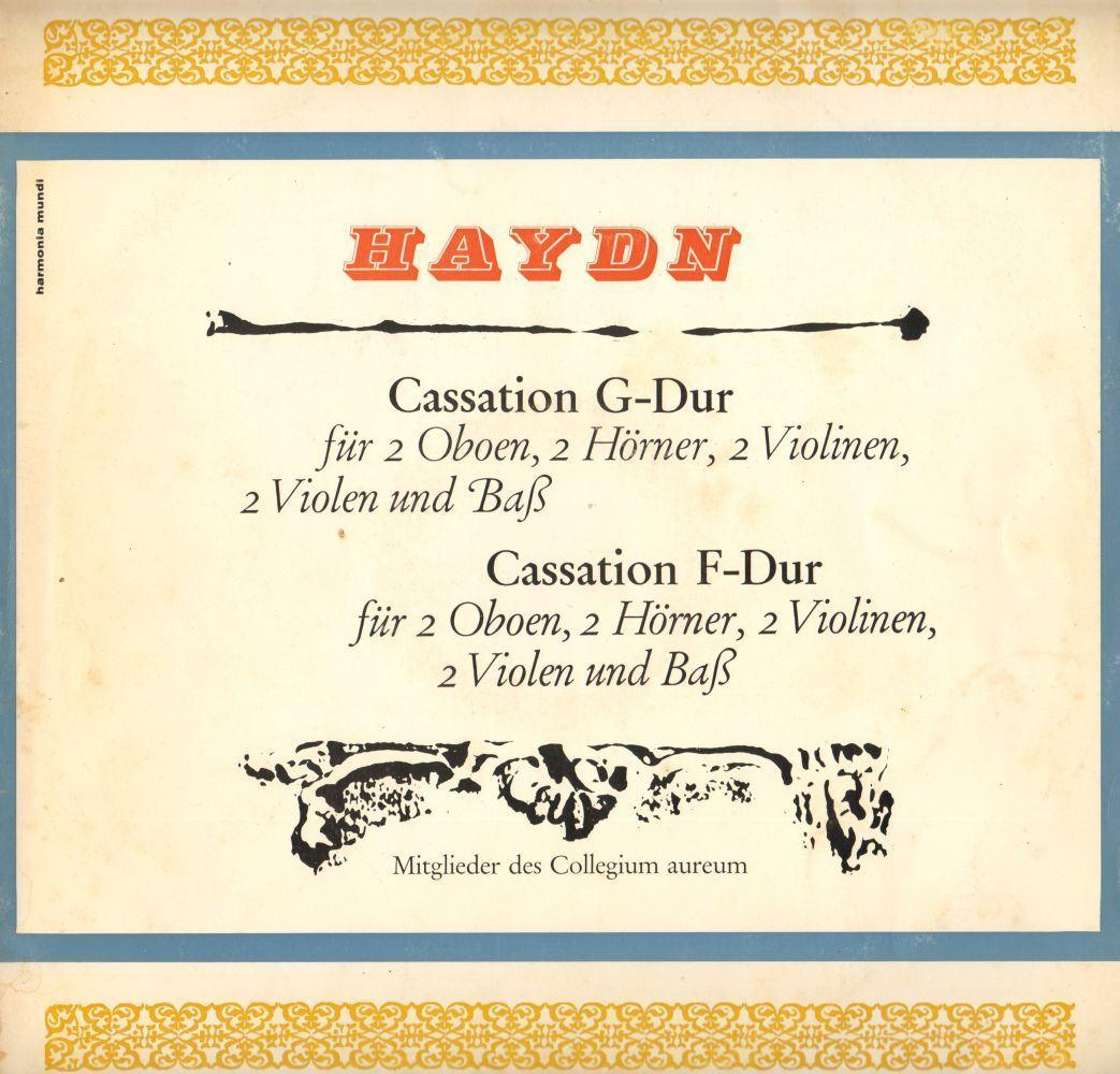 Joseph Haydn (1732-1809): Cassations Nº 9 e 20