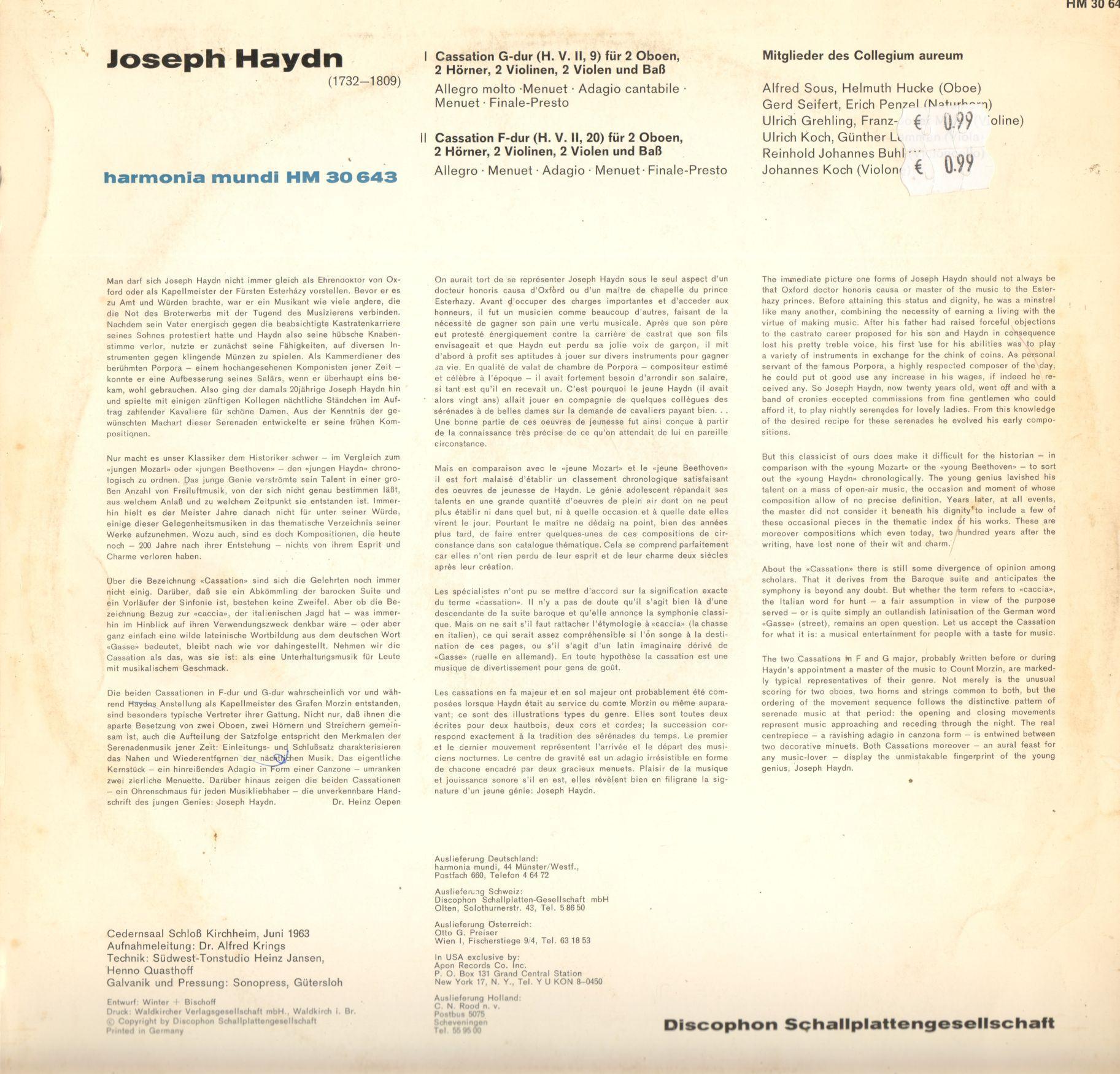 Haydn HM 30 643 2