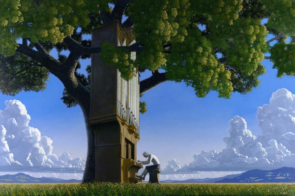 Bach, regato, oceano, tronco, árvore
