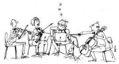Viola Quartet Cartoon