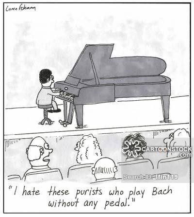 'I hate these purists who play Bach without any pedal'