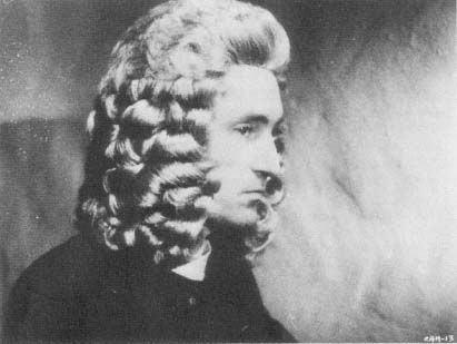 Gustav Leonhardt como Bach num filme dos anos 60
