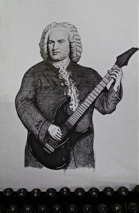 Johann Sebastian Bach e sua guitarra