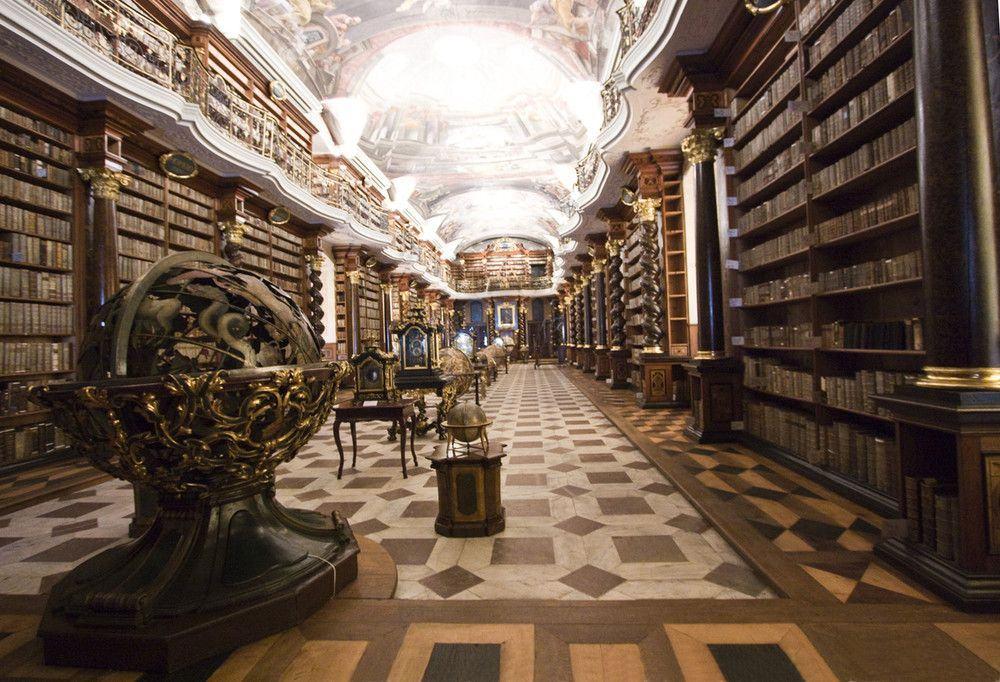 Agulhas em palheiros: a biblioteca do Clementinum de Praga (foto do autor)