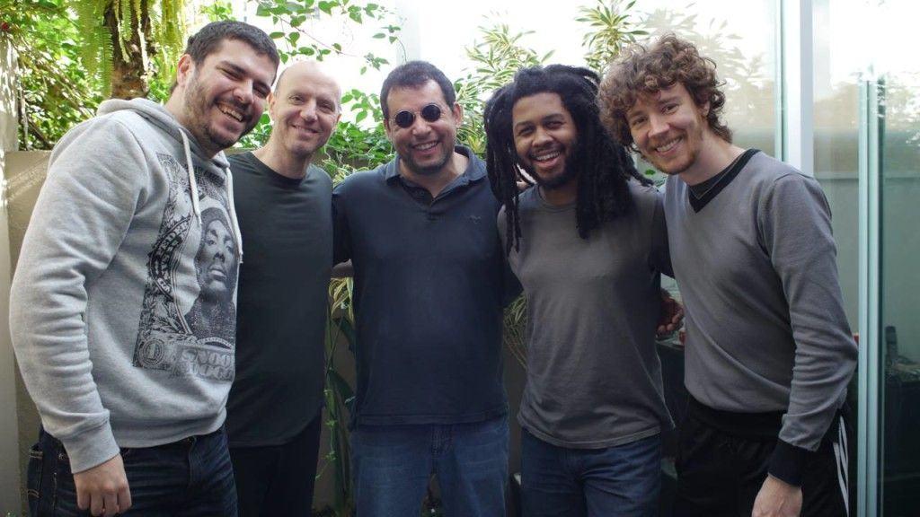 Da esquerda pra direita: Vinicius Gomes, Sérgio Reze, Alexandre Silvério, Fábio Leandro, Igor Pimenta