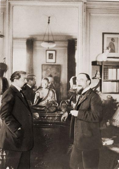 Debussy e Satie: provavelmente em conversa sem ritmo.