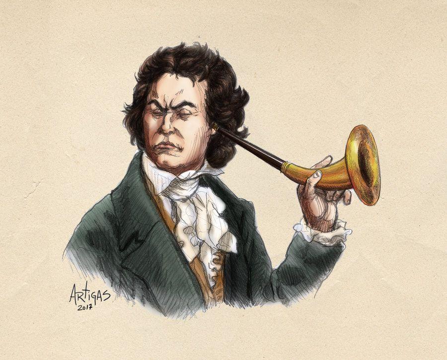 Oi? | Arte de Sergio Artigas (http://artigas.deviantart.com/art/Ludwig-van-Beethoven-07-152989423)