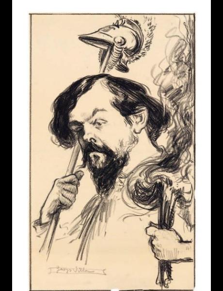 Debussy revolucionário, charge de 1912