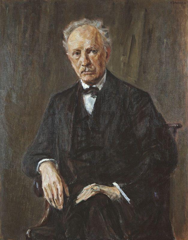 Retrato de Richard Strauss por Max Liebermann, em 1918.