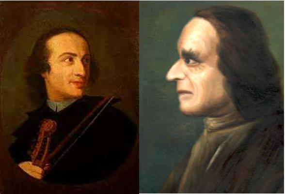 Tartini, antes e depois da possessão demoníaca.