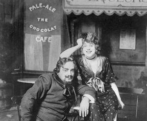 1915- Geralsine Farrar and Enrico Caruso in La Boheme.