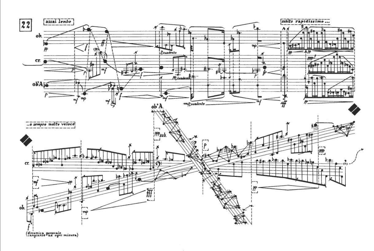 György Kurtág (1926): Grabstein für Stephan op.15c & Stele op.33 /  Karlheinz Stockhausen (1928 – 2007): Gruppen für drei Orchester – Werk Nr.6