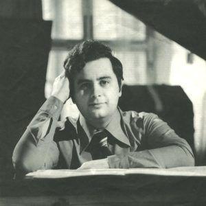 Roberto Szidon na época das gravações - 1975