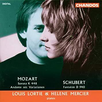 Mozart (1756-1791): Sonata K. 448 / Schubert (1797 – 1828): Fantasia D. 940 – Louis Lortier & Hélène Mercier