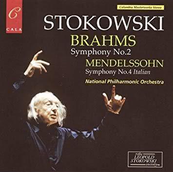 Mendelssohn (1809-1847): Sinfonia Italiana / Brahms (1833-1897): Sinfonia No. 2 (National Ph. Orch. & Leopold Stokowski)