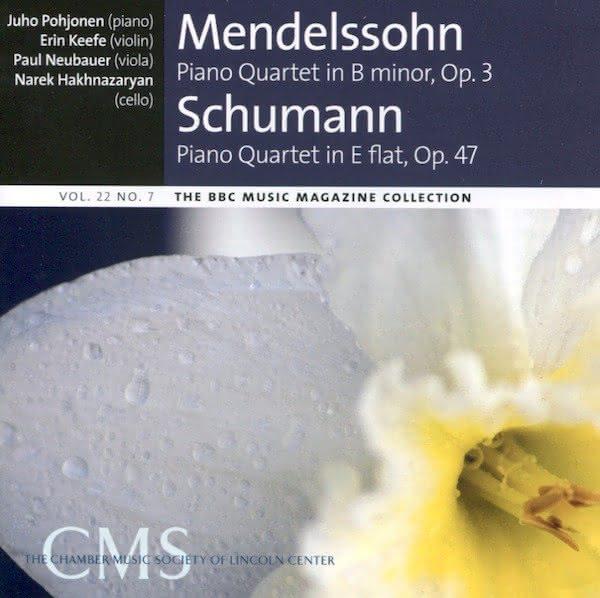 F. Mendelssohn (1809-1847) / R. Schumann (1810-1856): Quartetos com Piano