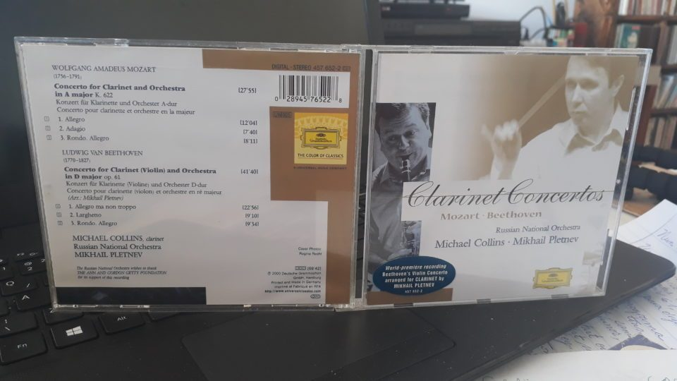 Mozart (1756-1791) & Beethoven (1770-1827): Concertos para Clarinete – Michael Collins – Russian National Orchestra – Mikhail Pletnev ֍ BTHVN250
